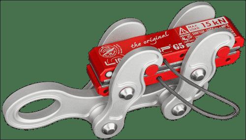 lineGrip G5 light webbing clamp for rigging tensioning slacklines