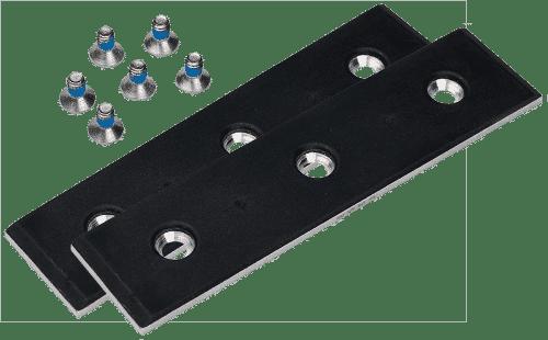 pair rubber plates t3 w 6 screws